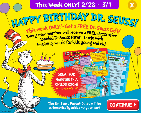DR. SEUSS`s Birthday is on Mar...
