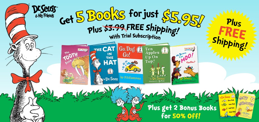 5 Dr. Seuss Books for $5.95...