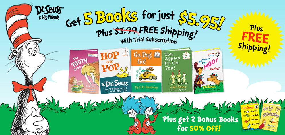 5 Dr. Seuss Books for $5.95 with FREE Shipping! (Ends 3/7/15)